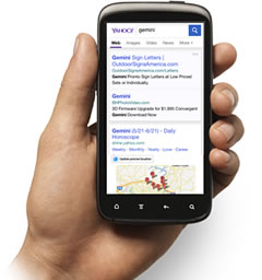 yahoo mobile search