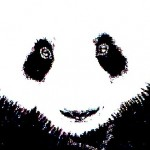 Google Panda: close up (monochrome)