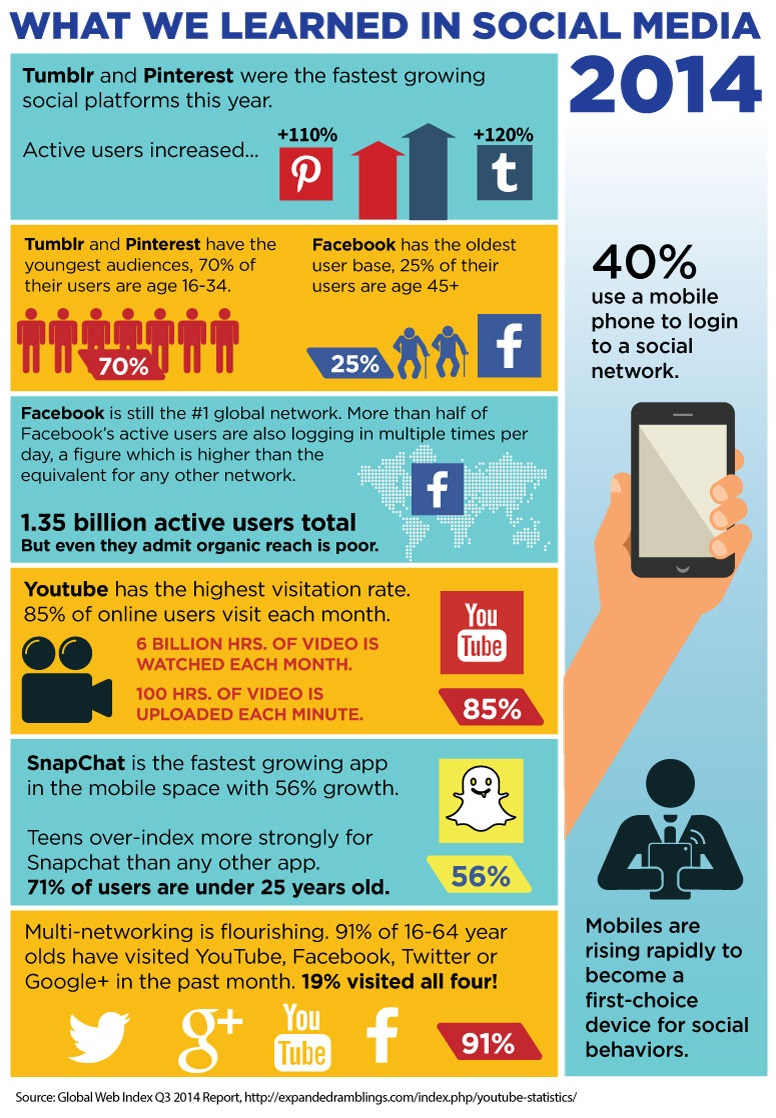 What we learned in Social Media 2014 (infographic)