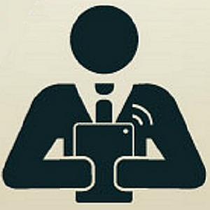 Symbol: guy with ipad