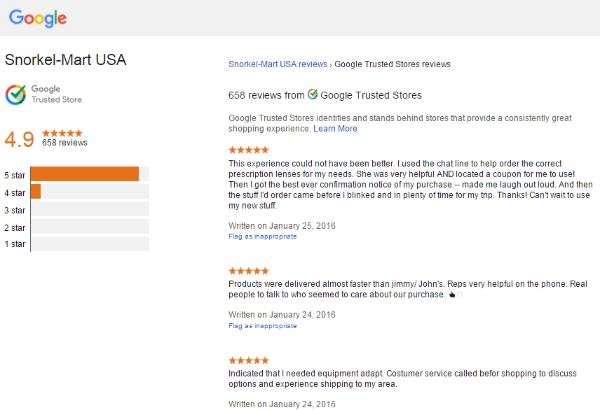 Google Trusted Stores program leverages online reviews and Adwords