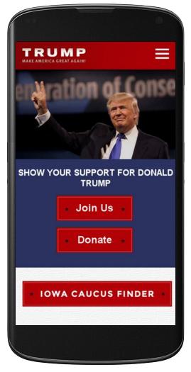 donald trump mobile site