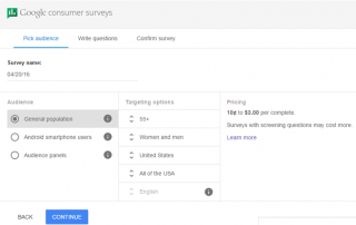 google surveys start
