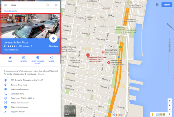 A tale of two Pizzerias on Google Maps | Didit –Articles - SEO - Cannot See Street View In Google Maps on