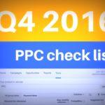Didit's Q4 2016 PPC checklist